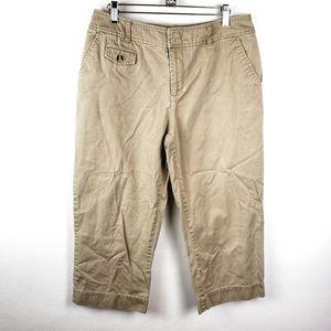 4/$25 St Johns Bay | Ankle Crop Khaki Casual Pants